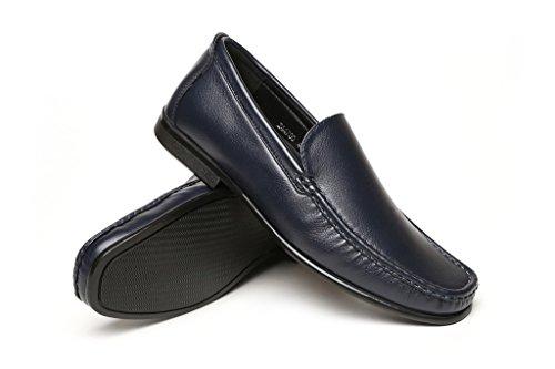 Conducción Marino Informal Sin Azul Zapatos Cordones Hombre Elegante Mocasines 8qAqX
