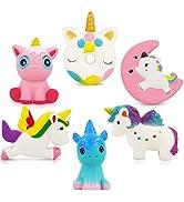 Unicorn Squishy Toys Squishies - 6 Pack Unicorn Squishies Jumbo Horse Kawaii Soft Scented Animal ...