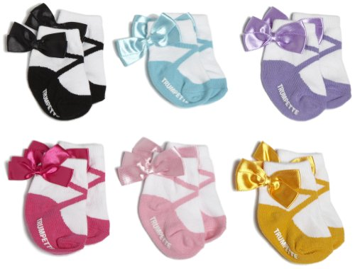 Trumpette Baby-girls Newborn New Ballerina Sock Set, Multi, Small (0-12Months)