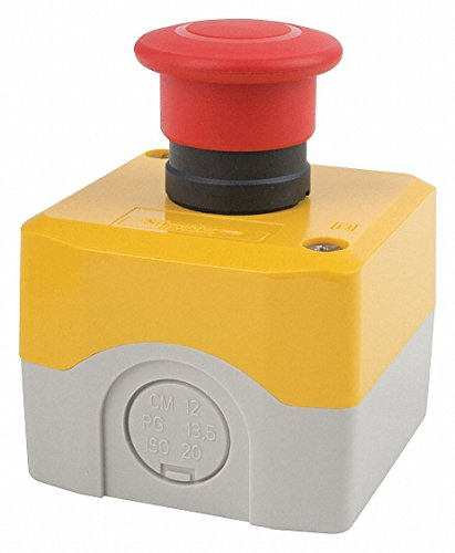 Emergency Stop Switch, SPST-NC, Push-Pull, Screw Clamp, 6 A, 120 - Retail 22mm Net