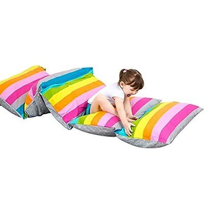 Nancyus005 Kids Floor Pillow Case and Lounger Seats Cushion Bean Bag Chair Cover (NO INSERT)