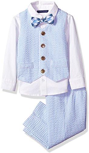 Bonnie Jean Toddler Girls' Matt's Scooter Boys, Blue Seersucker, 2T