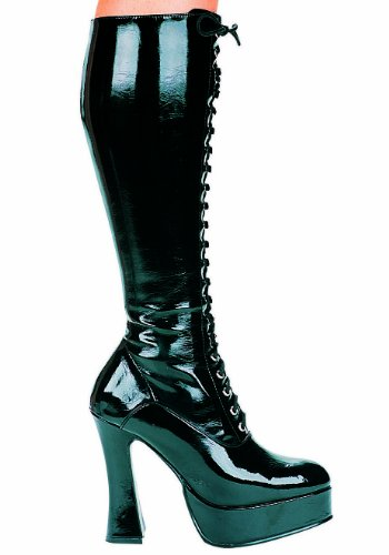 - Ellie Shoes Women's 5 Inch Heel Stretch Knee Boot with Inner Zipper (Black;14)