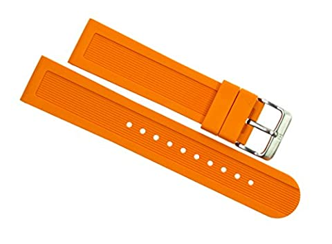 Victorinox Swiss Army Dive Master 500 Orange Genuine Rubber Strap Diver Watch Band 22mm (Mens Swiss Army Watch Diver 500)