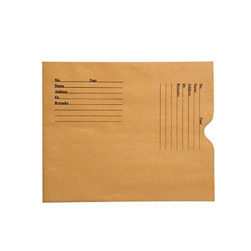 - 28lb Brown Kraft Negative Preserver, Open End, Standard Imprint, 8-1/2