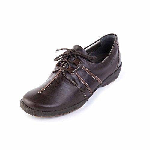 Otra marrón cordones Piel de Zapatos mujer Suave de para wIqFSnA