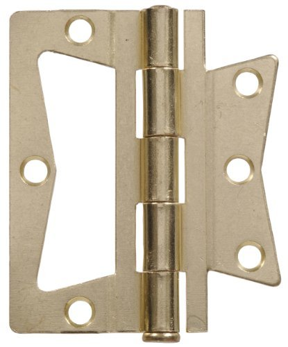 Brass Removable Pin (The Hillman Group 852629 3-1/2 Non Mortise Hinge - Removable Pin - Brass Finish 2-Pack by The Hillman Group)