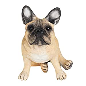 "Chapman Sculptures French Bulldog Hand Painted Statue 5.7"" (Fawn)"