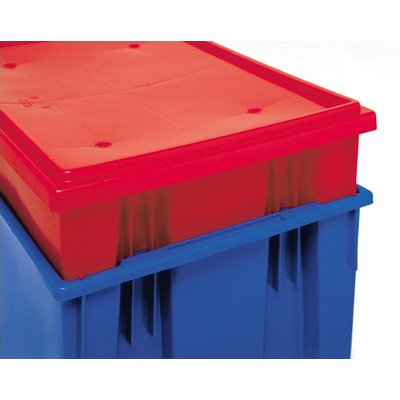 Stack and Nest Storage Tote Lids for snt180/5 (6 Piece Set) Color: Red