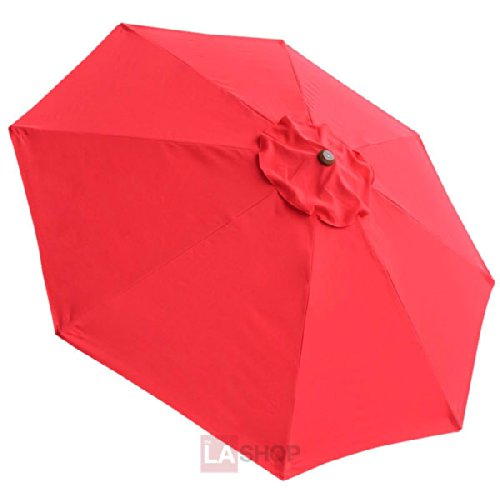 8 ft Patio Market Umbrella Replacement Canopy Red