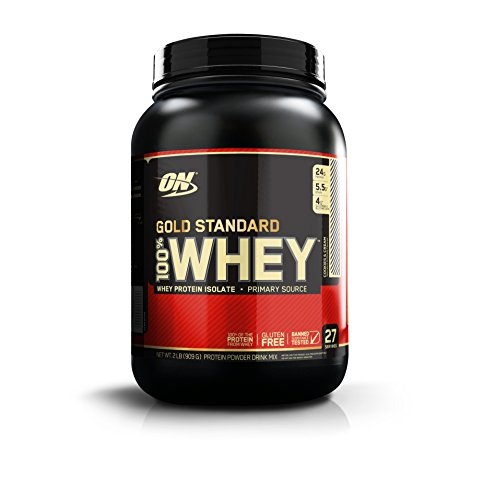 Optimum Nutrition Gold Standard 100% Whey Protein Powder, Cookies and Cream, 2 Pound (Pure Protein Whey Nutrition)
