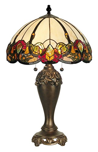 Dale Tiffany TT90235 Northlake Table Lamp, Antique Bronze