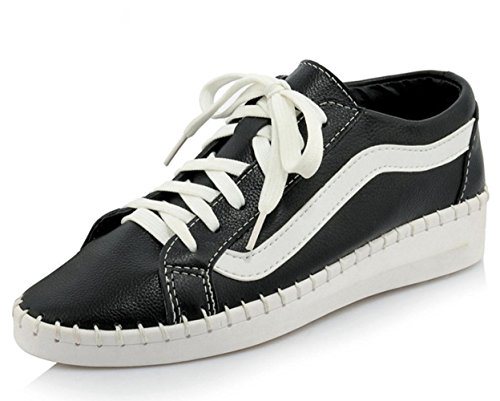 Mei Herbst Damen Sportschuhe Lace klein weiß Schuhe Leichtes atmungsaktives Casual Schuhe Flach Damen Schuhe Schuhe Krankenschwester Schuhe, US6,5