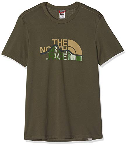 The Taupe Maglietta Mountain Face new Uomo Green Line Verde Tee North rqPrgAw