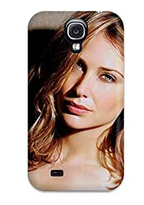 Durable Protector Case Cover With Claire Forlani Hair Red Blonde Grey White Black Wall Shadow People Women Hot Design For Galaxy S4