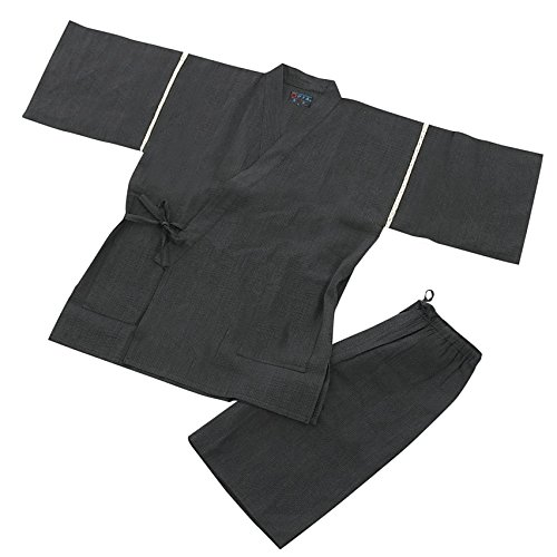 Edoten Men's Japan Kimono Jimbei 706 Gray XXXXL