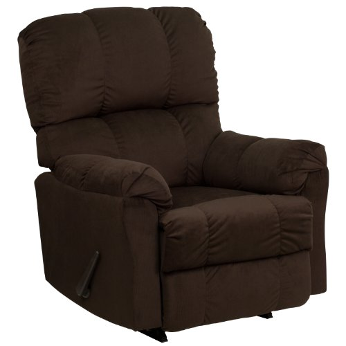 Leggett Leather Recliner (Flash Furniture Contemporary Top Hat Chocolate Microfiber Rocker Recliner)