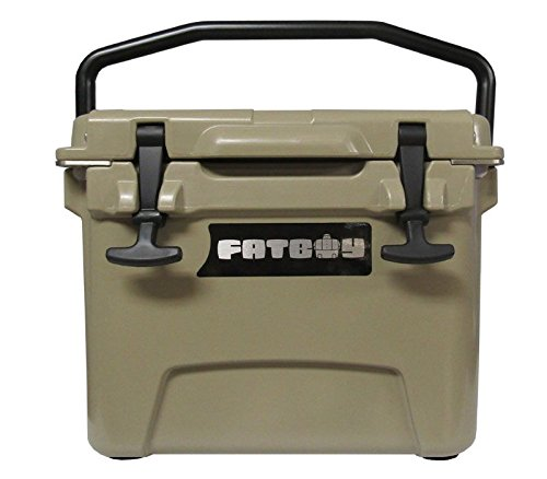 Fatboy 10QT Rotomolded Cooler Chest Ice Box Hard Lunch Box – Sand Tan