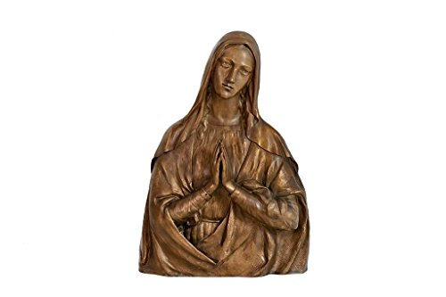 Salvadori Arte. Bronze high relief sculpture. Madonna, holy art. Lost wax casting.