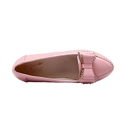 Tirare Pelle Puro Ballet Rosa Donna flats Tonda Scamosciata Finta Punta Voguezone009 qZ1TwARX