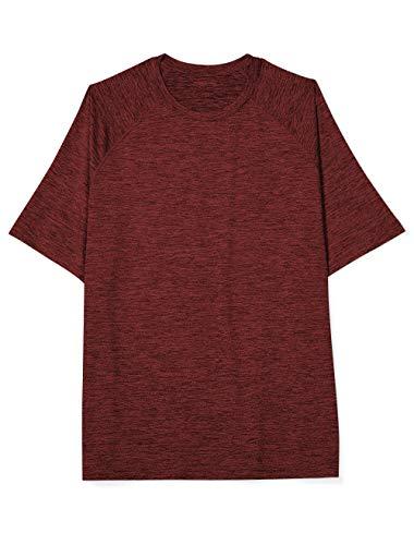 Amazon Essentials Men's Tech Stretch Short-Sleeve T-Shirt, Red Spacedye, 3X Tall (T Shirts 3x)