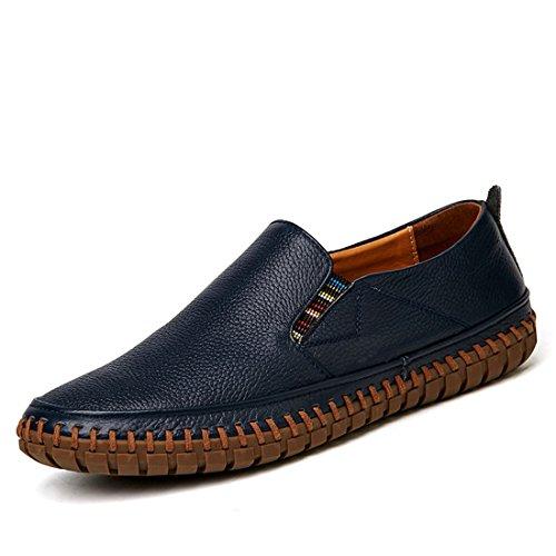 Heren Klassieke Casual Loafers - Mocassins Met Zachte Slip Op Schoenen Bz998 Blauw