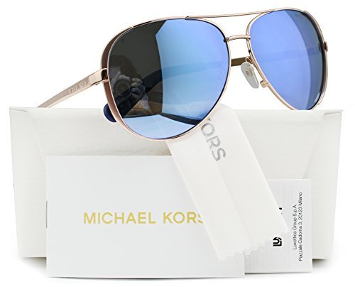 Michael Kors MK5004 Chelsea Polarized Sunglasses Rose Gold w/Purple Mirror (1003/22) MK 5004 100322 59mm - Celine Kors Michael