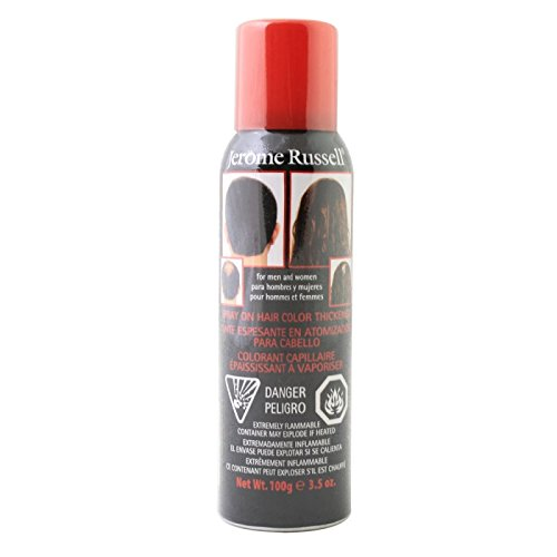 Odysseus - Jerome Russell Spray-On Hair Color Thickener Spray 3.5 Oz Medium Brown by Jerome Russell