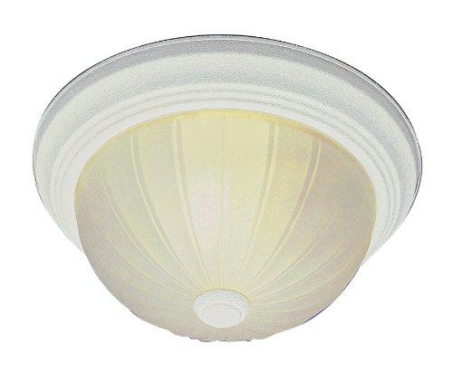 Trans Globe Lighting LED-13211-1 AW Breakwater Traditional Flushmount, 11'', Indoor Antique White
