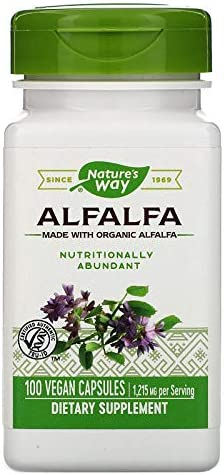 Nature s Way Alfalfa Leaves — 100 Capsules