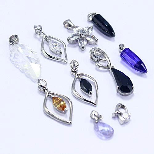 FidgetGear Quartz Citrine Amethyst 10pc Fashion jewelry925 Silver Plated Pendant lot s29956 Show One Size