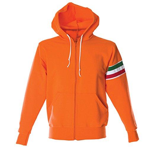 100 Lavoro Ginnastica Tuta Jrc Da Felpa Chemagliette Con Arancione Verona Maglia Cotone Cappuccio 4ag84