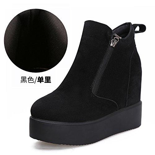 KHSKX-Meine Stiefel Hang Mit Vereisten Kuchen Herbst Und Winter Dicksohlige Schuhe Mehr Stiefel Schwarz Martin Stiefel black