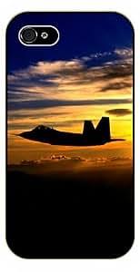 iPhone 5C War jet in sunset - black plastic case / Plane, aircraft, airplane