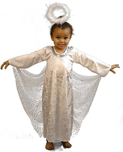 Angel Gabriel Costumes (CL COSTUMES Nativity-Bible-World Book Day-Gabriel Arch Angel Child's Fancy Dress Costume – All Ages (Age 5-6))
