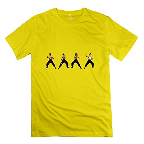 Yongth Men's Bruce Render 3546x1114 By Sachso74 D6zg2tg 100% Cotton T-Shirt - Love T-shirt Yellow US Size XL