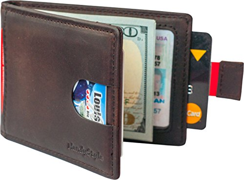Best Wallets for Men - Leather Wallet - RFID Travel Slim Small Pocket Wallet Brown
