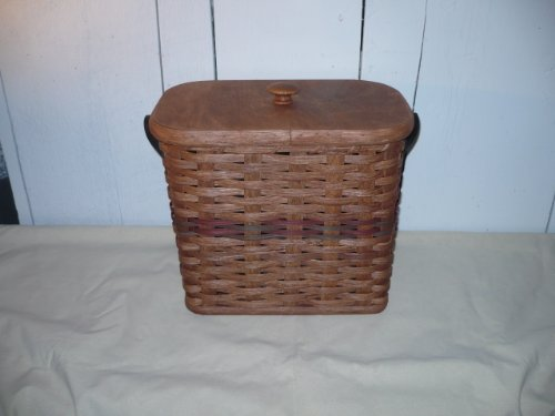 Hand Woven 4 Roll Toliet Paper Holder Basket. This Basket Will Hide Those Unsightly Rolls of Toliet Paper in a Cute and Sturdy Basket That Will Add Charm to Your Bathroom Decor. Measures: 10