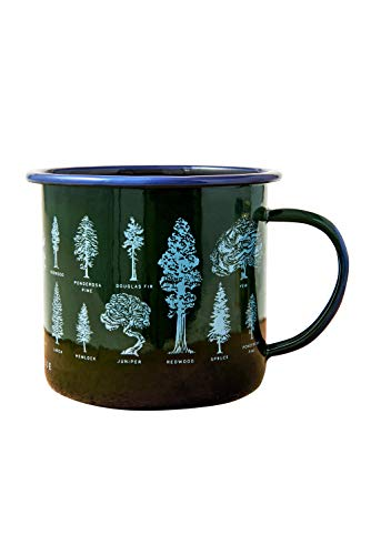 United By Blue - 22oz Evergreen Enamel Steel Mug - Great for Coffee, Tea, Camping - Hand Dipped - Campfire and Stovetop Safe
