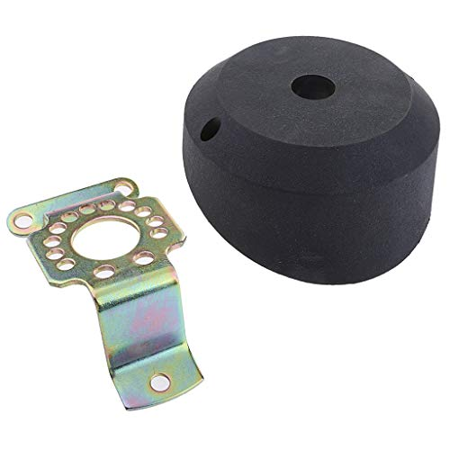 Baoblaze 20 ANGLED JET BOAT OUTBOARD ENGINE STEERING CABLE BEZEL HELM KIT BLACK ()