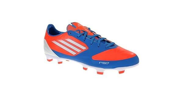 Adidas F30 TRX FG Botines de fútbol (10.5, infrarrojos / correr Blanco / azul brillante): Amazon.es: Zapatos y complementos