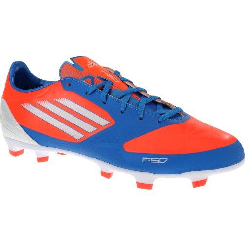 Crampons De Football Adidas F30 Trx Fg Hommes (7, Infrarouge / Running Blanc / Bleu Clair)
