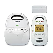 VTech DM251-102 Safe and Sound DECT6.0 Audio Baby Monitor with Open/Close Sensor, White