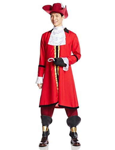 Peter Pan Lost Boy Costumes (Disney Peter Pan Captain Hook costume Men's 165cm-175cm 95617)