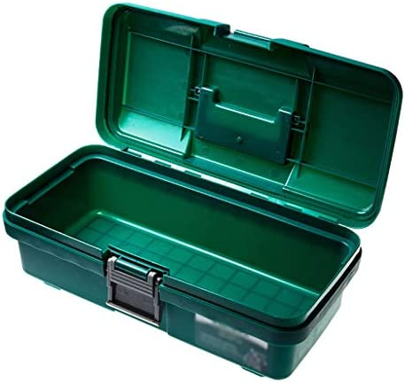 Storage For Tools Household Plastic Toolbox Multi-function with Handle Storage Box Green Tool Box for Tool or Accessories Storage Portable Tool box (Size : S)