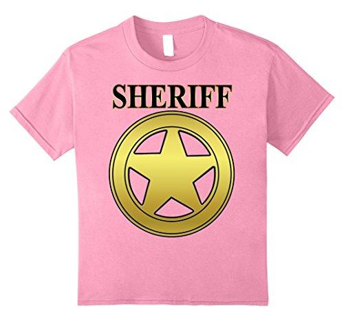 - Kids SHERIFF STAR T-SHIRT DEPUTY WESTERN SHERIFFS BADGE 8 Pink