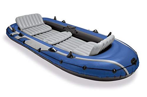 Inflatable Fishing Boat Set with 2 Oars, Air Pump & Bag with Ebook