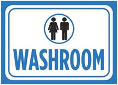 Amazon.com: Washroom Print Azul Mujer Hombres Negro Blanco ...