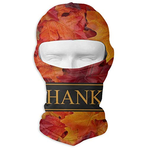 - O-X_X-O Balaclava Windproof Ski Face Mask Winter Motorcycle Neck Warmer Balaclava Polyester for Women Men Youth Snowboard Cycling Hat Outdoors Helmet Liner Fall Red Maple Mask