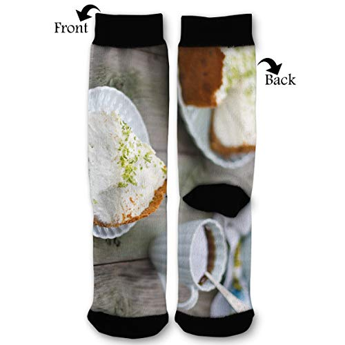 - Cheesecake Coffee Unisex Printing Seafarer Socks Deluxe Personality Short Sock 40CM